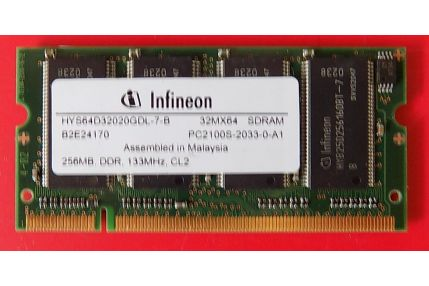 Memorie PC - MEMORIA RAM COMPAQ HYS64D32020GDL-7-B 32MX64 PC2100S-2033-0-A1 256MB - CODICE A BARRE 285523-001