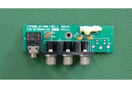 Schede Tuner Ingressi e Interconnessione TV - MODULINO INGRESSI HYUNDAI LTV28 B_AV CONN 1 REV C 115-900001-C01