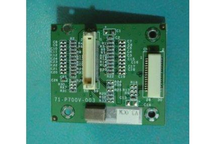 MODULINO INTERCONNESSIONE PANNELLO 71-P700V-003 PER PC LCD COMPUTER MODELLO L297T CLEVO CO.XF.7TM PENTIUM 4 3.0GHz-LCD COMPUTER