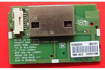 MODULO LG WI-FI E BLUETOOTH TWCM-B001D V1.7 2703H-LGSBW41 - CODICE A BARRE EA T62093301