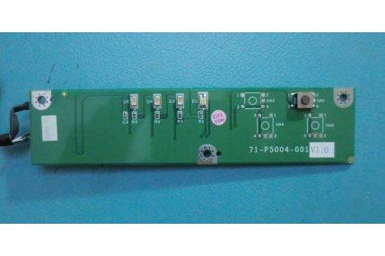 PULSANTE ACCENSIONE MODULINO LED 71-P5004-001 V1.0 PER LCD COMPUTER MODELLO CLEVO L285S MONTATO SU COMEX XF.5ED MOD PLANIUM