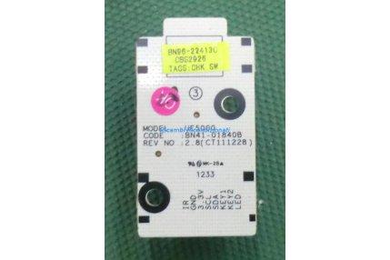 Tastiere TV - PULSANTE ACCENSIONE SAMSUNG UE5000 BN41-01840B REV 2.8 - CODICE A BARRE BN96-22413C