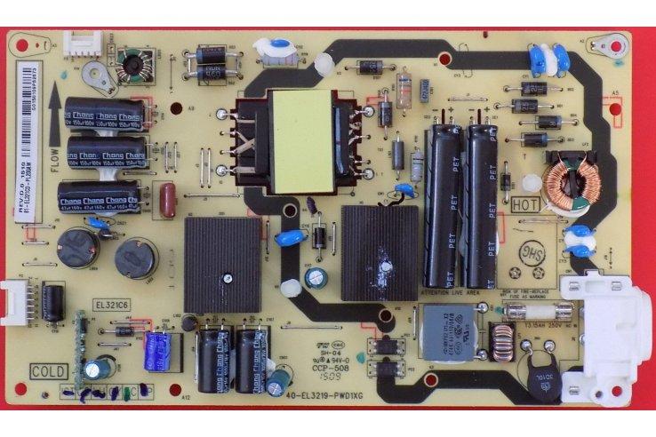 ALIMENTATORE TCL 40-EL3219-PWD1XG CODICE A BARRE REV:D.0 81-EL321CD-PL200AW
