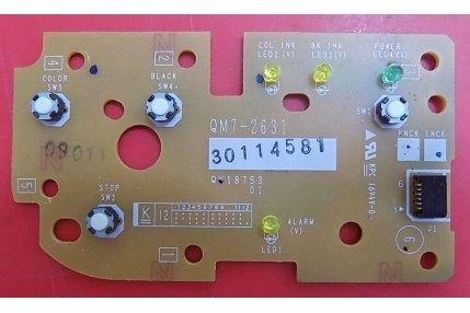 Schede Varie Stampanti - SCHEDA CONTROLLO PANNELLO CANON QM7-2631 30114581 QK18753 01