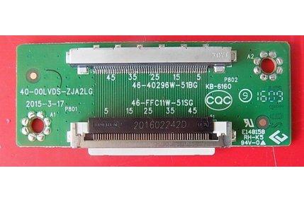 Scheda interconnessione TCL 40-00LVDS-ZJA2LG 46-40296W-51BG 46-FFC11W-51SG NUOVA