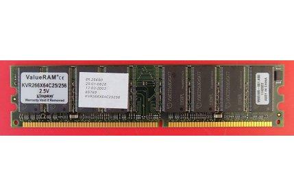 Memorie PC - SCHEDA RAM KVR266x64c25/256 2.5v