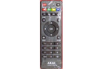 Telecomandi - Telecomando Akai Androind TV Box per Internet Home TV HEVC H.265/Quadcore Originale Nuovo