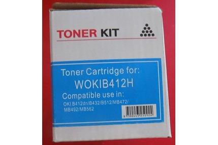 Toner Stampanti - TONER CIANO COMPATIBILE WOKIB412H