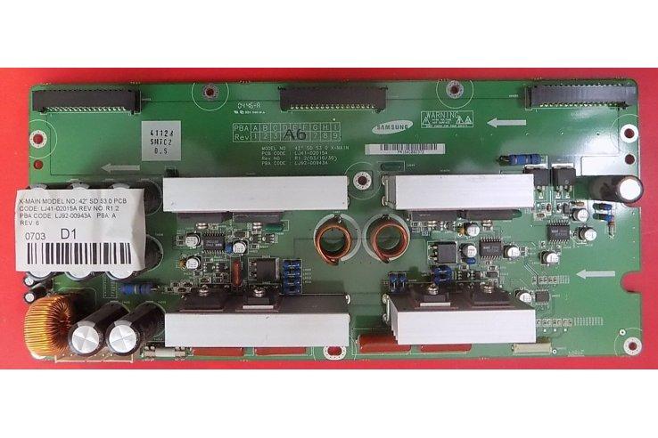 X-MAIN HYUNDAI 42 SD S3.0 LJ41-02015A REV R1.2 LJ92-00943A REV A6 - CODICE A BARRE PA164C