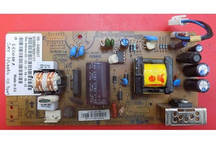 ALIMENTATORE HUMAX PW1001 REV1.0 - CODICE A BARRE 01403-00126 HD-5400S-IT 6005782