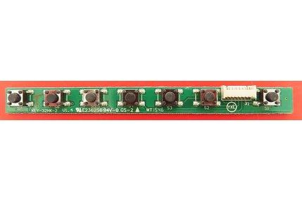 Tastiera Sharp KEY-32HK-2 V1.4 Smontata da Tv Nuovo