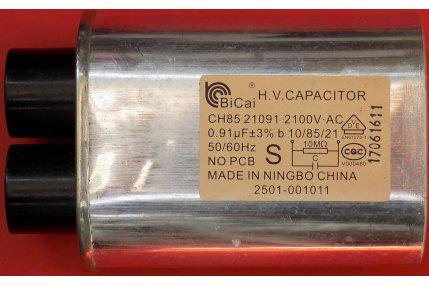 Ricambi Microonde - CONDENSATORE BiCai H.V. ALTA TENZIONE CH85 -21091 2100V 0,91µF NUOVO