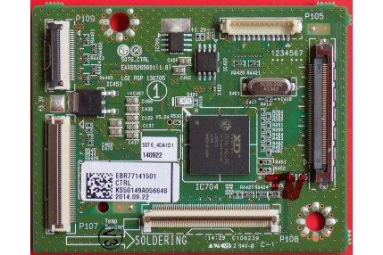 X/Y/Z SUS TV - CTRL LG AKAI 50T6_CTRL EAX65265001(1.8) LGE PDP 130705 Codice QR EBR77141501 Originale Nuovo