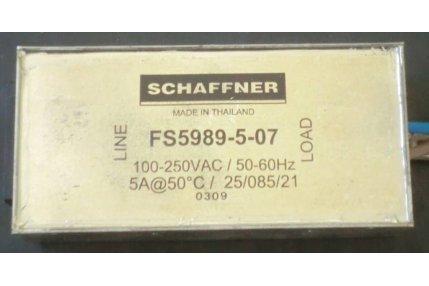 Filtri di Rete e Prese 220v TV - FILTRO DI RETE SCHAFFNER FS5989-5-07
