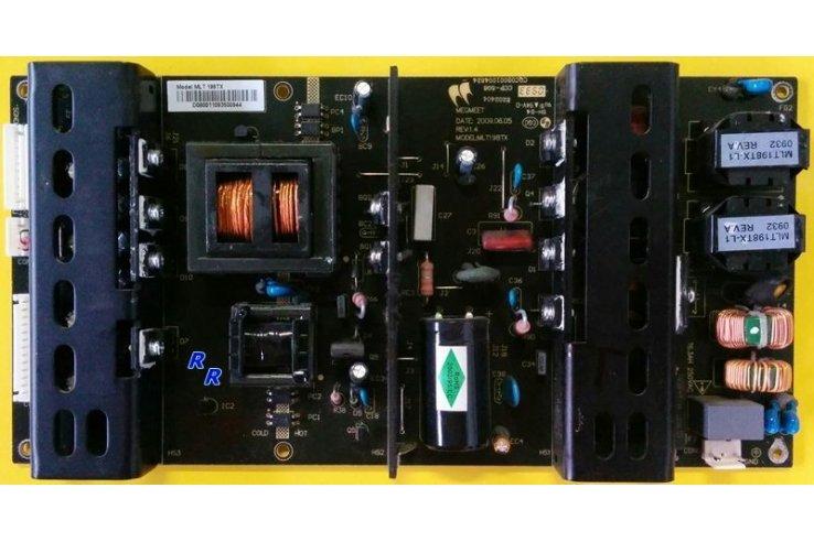 ALIMENTATORE MLT198TX REV 1.4 - PER TV HANTAREX LCD 42 BL 3G TV II