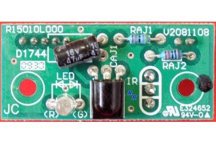 Ricevitori IR e Modulini Led on TV - IR LED BOARD R15010L000 D1744 V2081108 - PER TV UNITED 15 TFT LCD TV DVD COMBO TVD9153