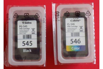 Kit Cartucce inchiostro noro e colore PG-545 + CL546 Stampante Canon Originale Nuovo