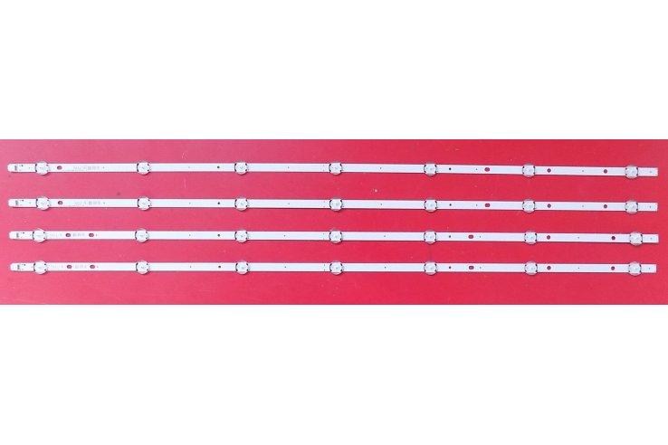 Kit nr.4 Barre Led TELEFUNKEN VESTEL43FHD B-TYPE REV0.8 - CODICE A BARRE MJA5 3221 NUOVA