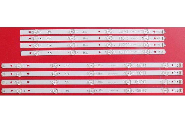 Kit nr.8 BARRE LED LG RIGHT NC490DGG-AAFX1-41 CA GAN01-1255A-P1 + LEFT NC490DGG-AAFX1-41 CA GAN01-1256A-P1 NUOVo